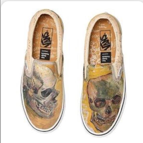 NWT Vans x Vincent Van Gogh Skull sneakers 1cacd8a95